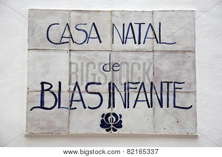Blas Infante birthplace, Casares.
