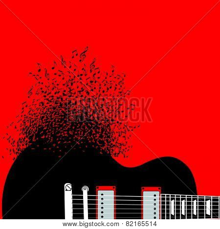 guitar, music background illustration