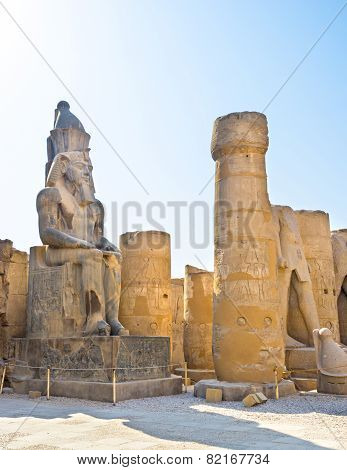 The Statue Among Ruins