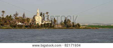 Muslim Mosque Of Hala Sultan Tekke In Larnaca, Cyprus