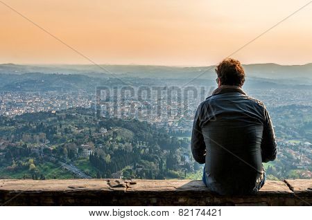 Panoramic View Of Firenze From Fiesole