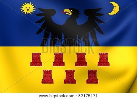 3D Flag of Transylvania (1659-1867). Close Up. poster