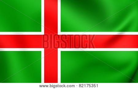 Flag Of Smaland, Sweden.