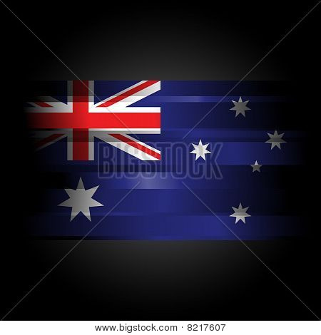 The Abstract Flag Of Australia On Black Background