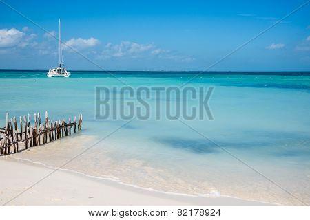 Sailing Caribbean, Isla Mujeres, near Cancun. Mexico