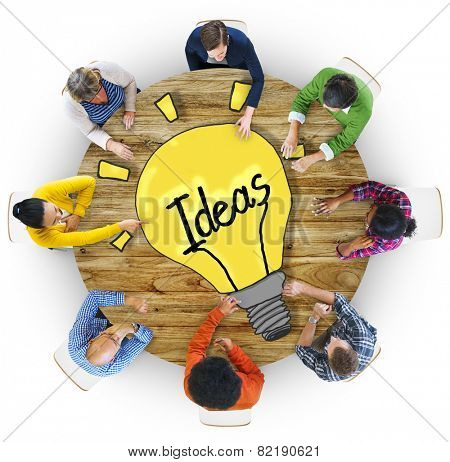 Aerial View People Ideas Breaking New Ground Concepts