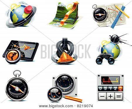 Navegación del GPS del vector