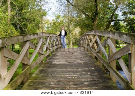 Crossing a Foot Bridge