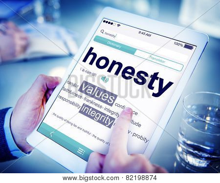 Digital Dictionary Honesty Values Integrity Concept
