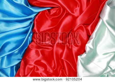 Blue And Red And Light Green Silk Cloth Of Abstract Backgrounds