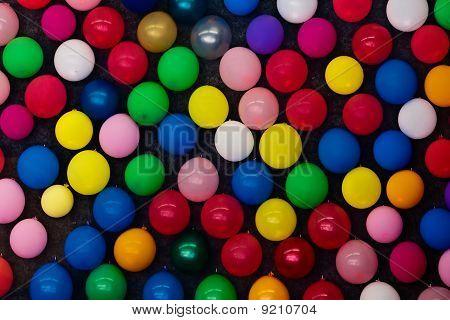 Balloons At A Wall