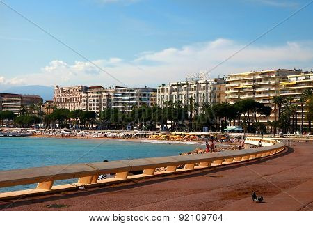 Cannes, France -  July 5, 2014. Cannes Bay In Alpes Maritimes French Riviera France. Cannes Located