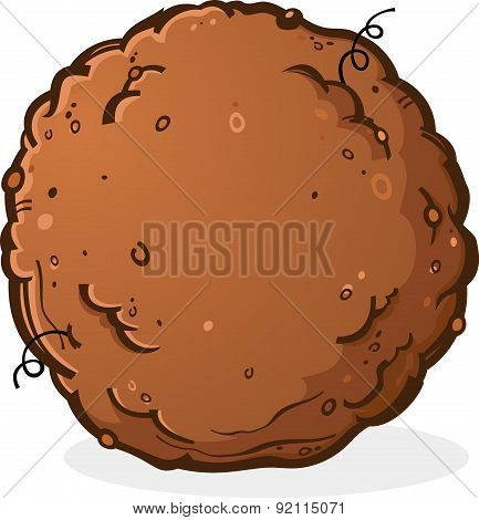 Ball of Dirt or Poop Cartoon