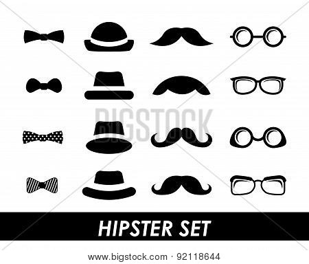 hipster design over white background vector illustration