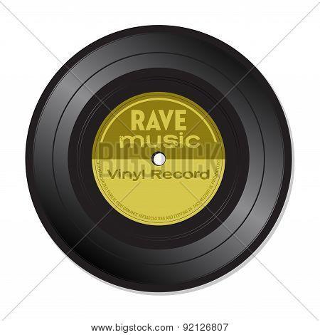 Rave music vinyl record