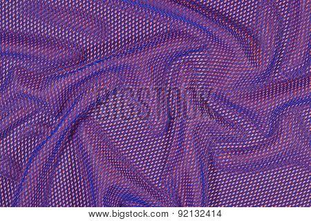 Blue Crumpled Nonwoven Fabric On A Orange