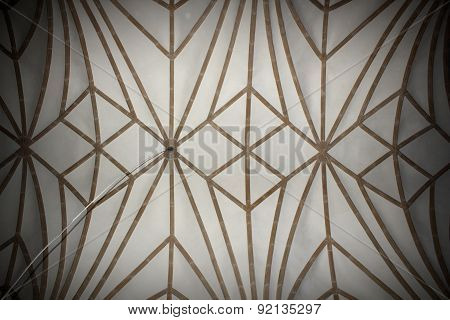 Abstract View Of Old Church Ceiling