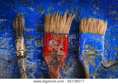 Brushes In Paint