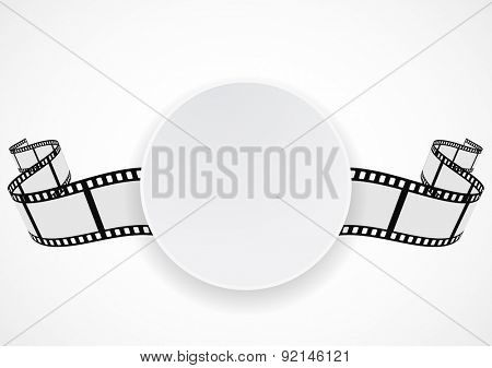 film reel strip abstract frame background design