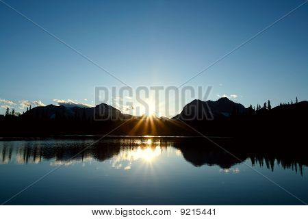 Blue Sunset In The Rockies