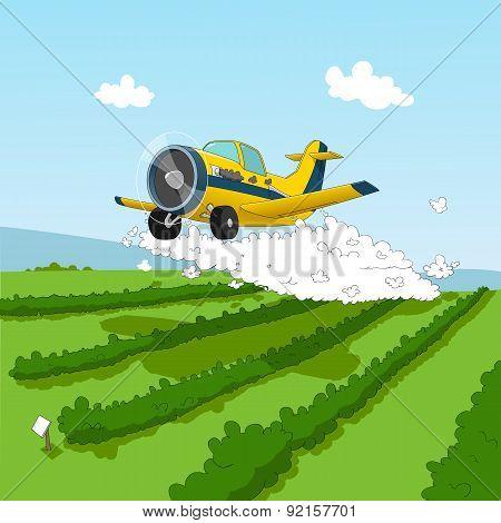 Plane and pesticides
