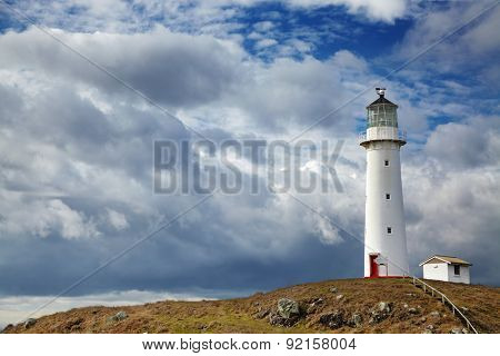 Cape Egmont Lighthouse, Taranaki coast, New Zealand