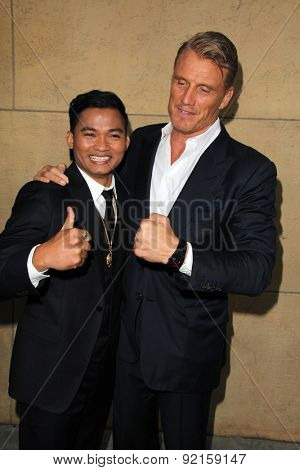 LOS ANGELES - MAY 6:  Tony Jaa, Dolph Lundgren at the