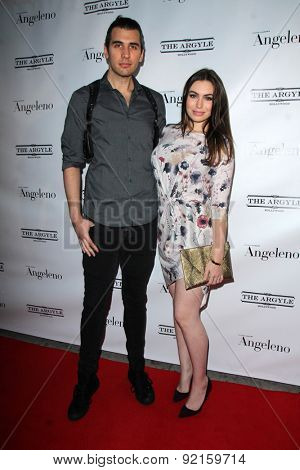 LOS ANGELES - MAY 31:  Nick Simmons, Sophie Simmons at the Angeleno Magazine  June 2015 Issue Party with Cover Man Adrian Grenier at the The Argyle on May 31, 2015 in Los Angeles, CA