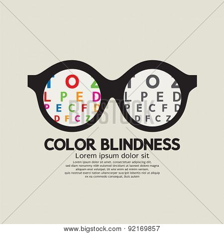 Color Blindness Concept.