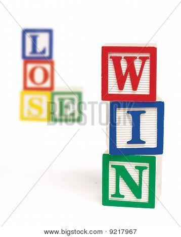 Win Lose Alphabet Blocks Vertical