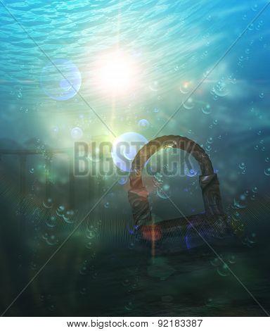 Ruins Underwater