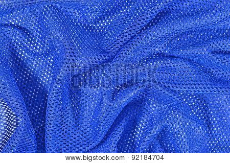 Blue Crumpled Nonwoven Fabric Background