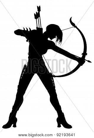 Woman Archer Silhouette