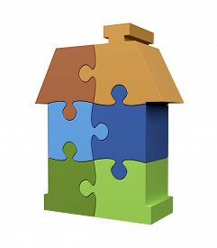 Jigsaw Puzzle Color House