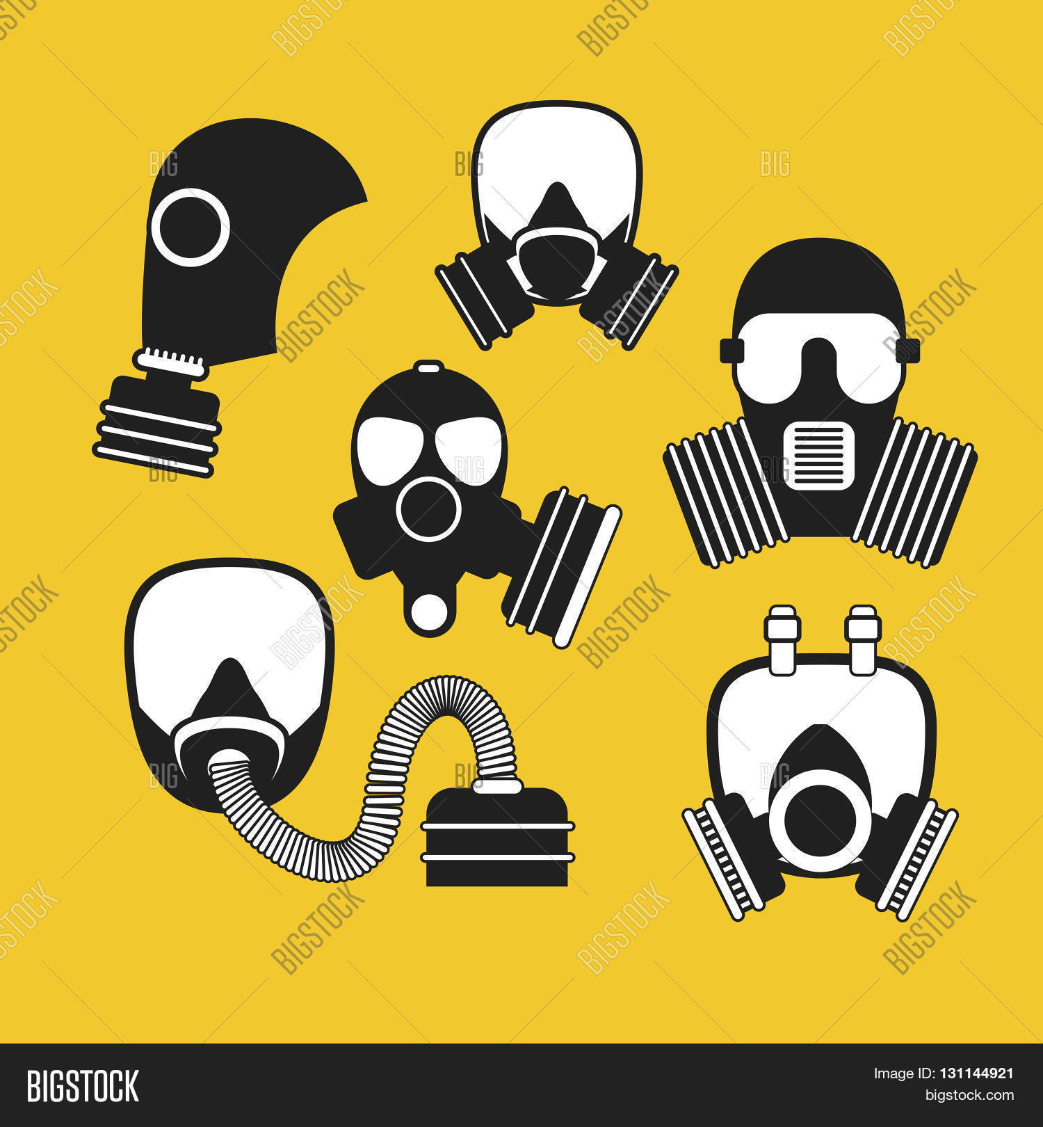 gas mask vector set vector photo free trial bigstock