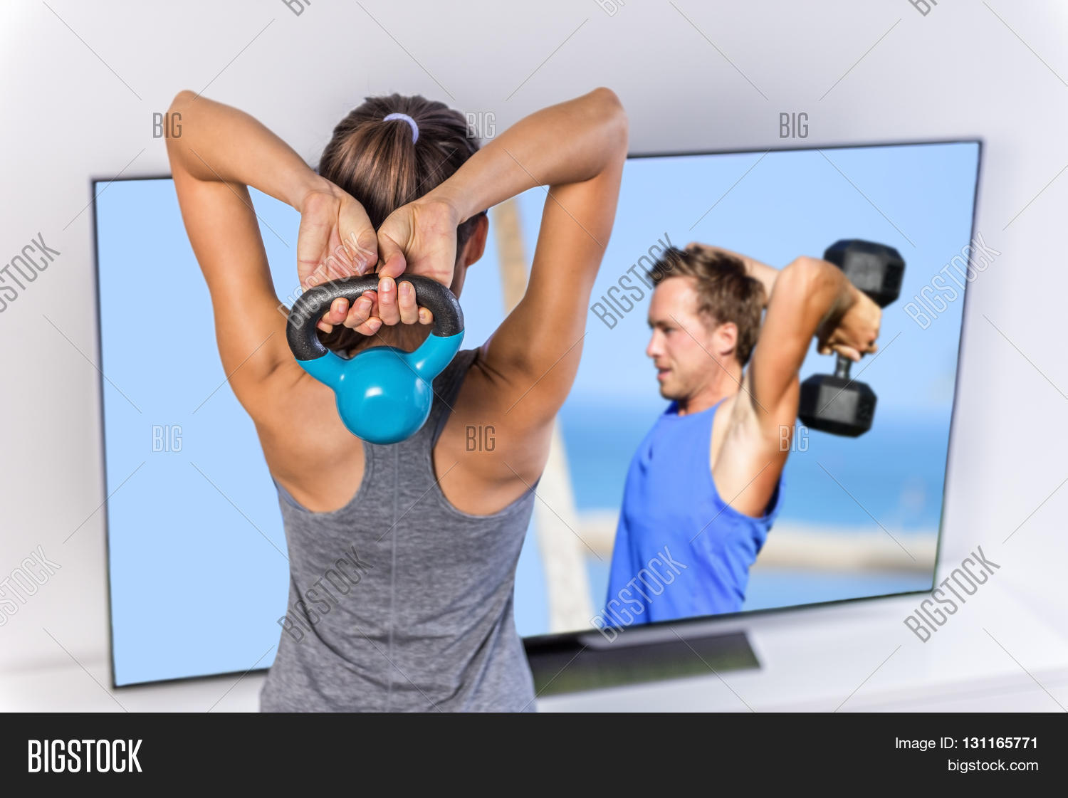 Fitness Home Woman Image & Photo (Free Trial) | Bigstock