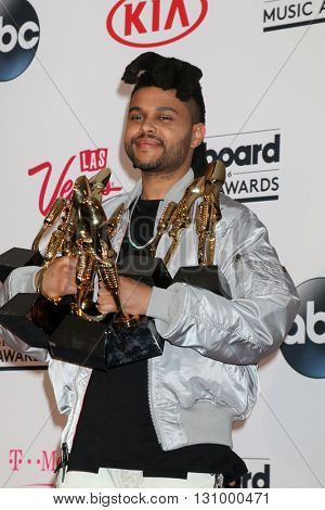 LAS VEGAS - MAY 22:  The Weeknd at the Billboard Music Awards 2016 at the T-Mobile Arena on May 22, 2016 in Las Vegas, NV