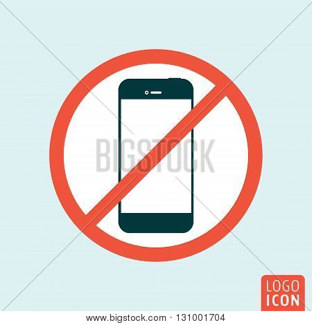 Turn off mobile phone icon. Turn off phone symbol. Vector illustration