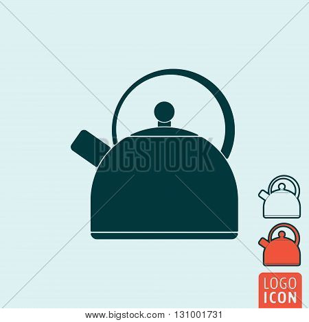 Kettle icon. Handle kettle symbol. Vector illustration