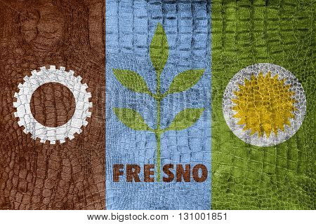 Flag Of Fresno, California, On A Luxurious, Fashionable Canvas