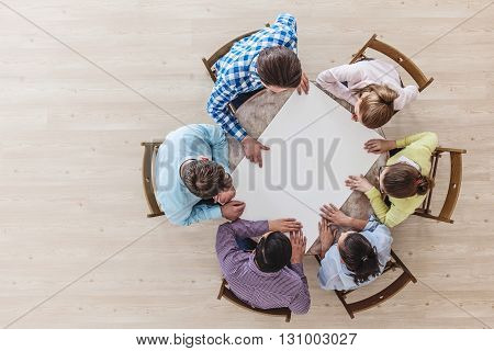 Businessteam Working At Meeting Table