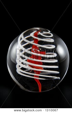 Hand-Blown Glass Paperweight