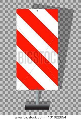 Road signs. Orange Badge guardrails on transparent background. Vector Illustration. EPS10