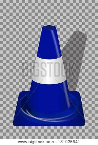 Road signs. Blue Badge guardrails on transparent background. Vector Illustration. EPS10