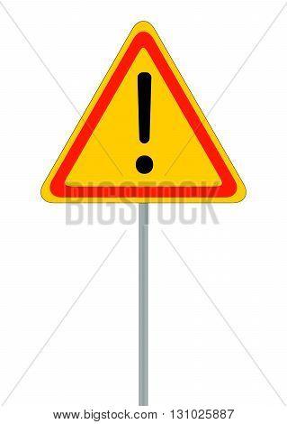 Road signs. Red Badge guardrails. Vector Illustration EPS10