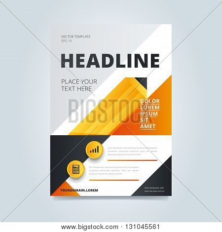 Creative leaflet cover. Brochure template. Business brochure cover. Anuual report layout. Creative design elements. Brochure layout. Creative brochure design with modern grapchics. Concept of business presentation cover.  Cover design. Annual report cover