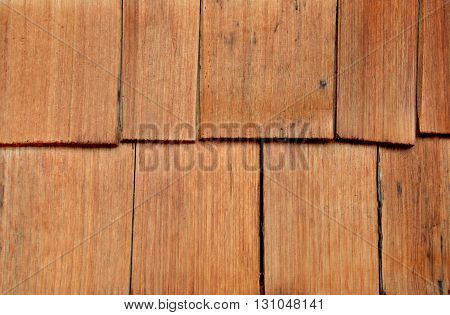Wood cedar siding shingles, shakes, background, backdrop,
