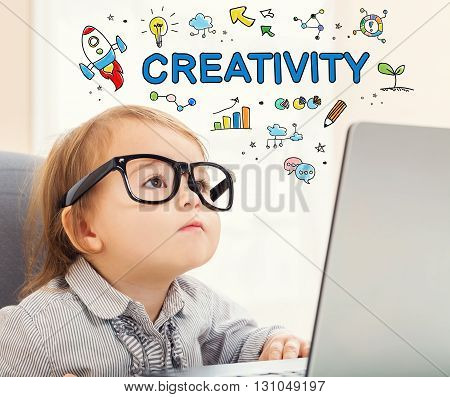 Creativity Concept With Toddler Girl