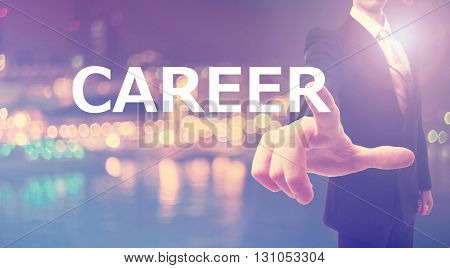 Career Concept With Businessman