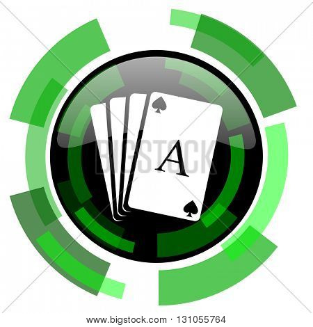 card icon, green modern design glossy round button, web and mobile app design illustration